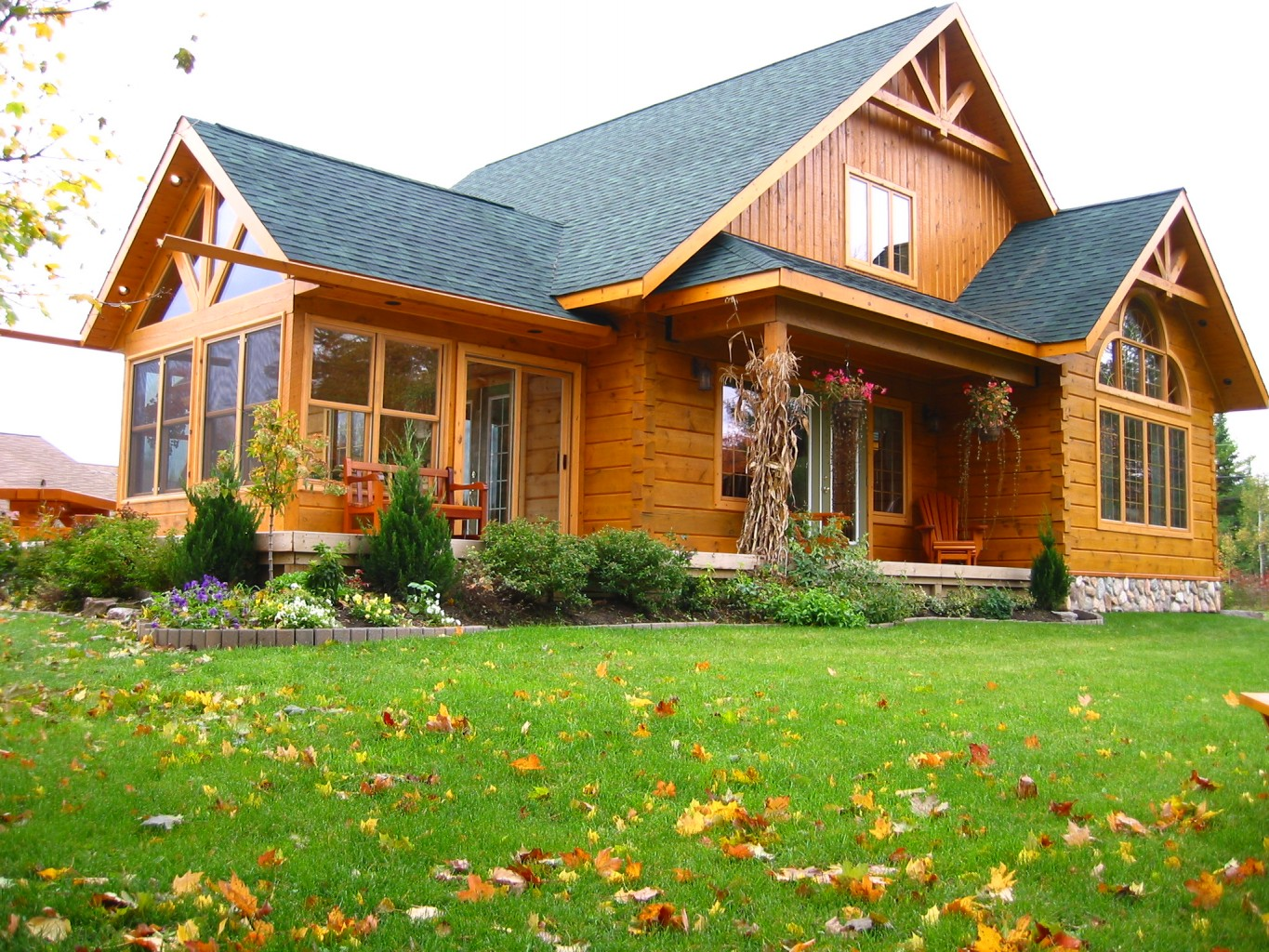 View our model open 7 days a week holiday hours 10 4 for Log home sunrooms