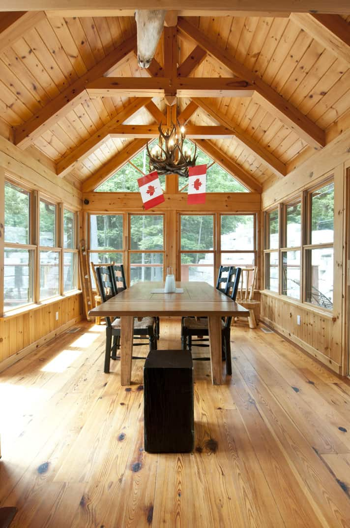 Confederation photo shoot confederation log timber frame for Log cabin sunrooms