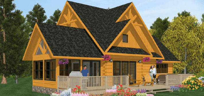 Small cabin plans living large in small spaces for Small timber frame cottage