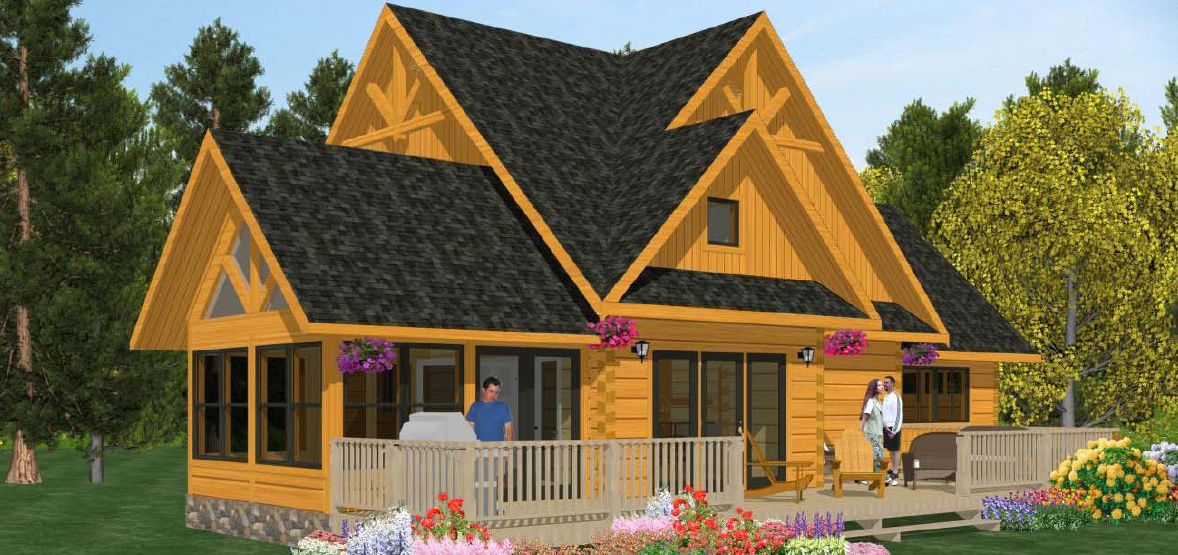 New Floorplans Confederation Log Timber Frame