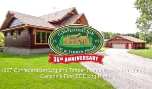 First-of-its-Kind in Canada Energy Efficient Log Product Makes Log Homes Even Greener