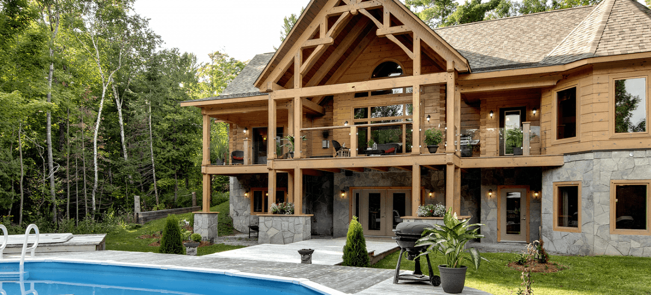 Timber frame homes plans ontario canada for A frame house plans canada