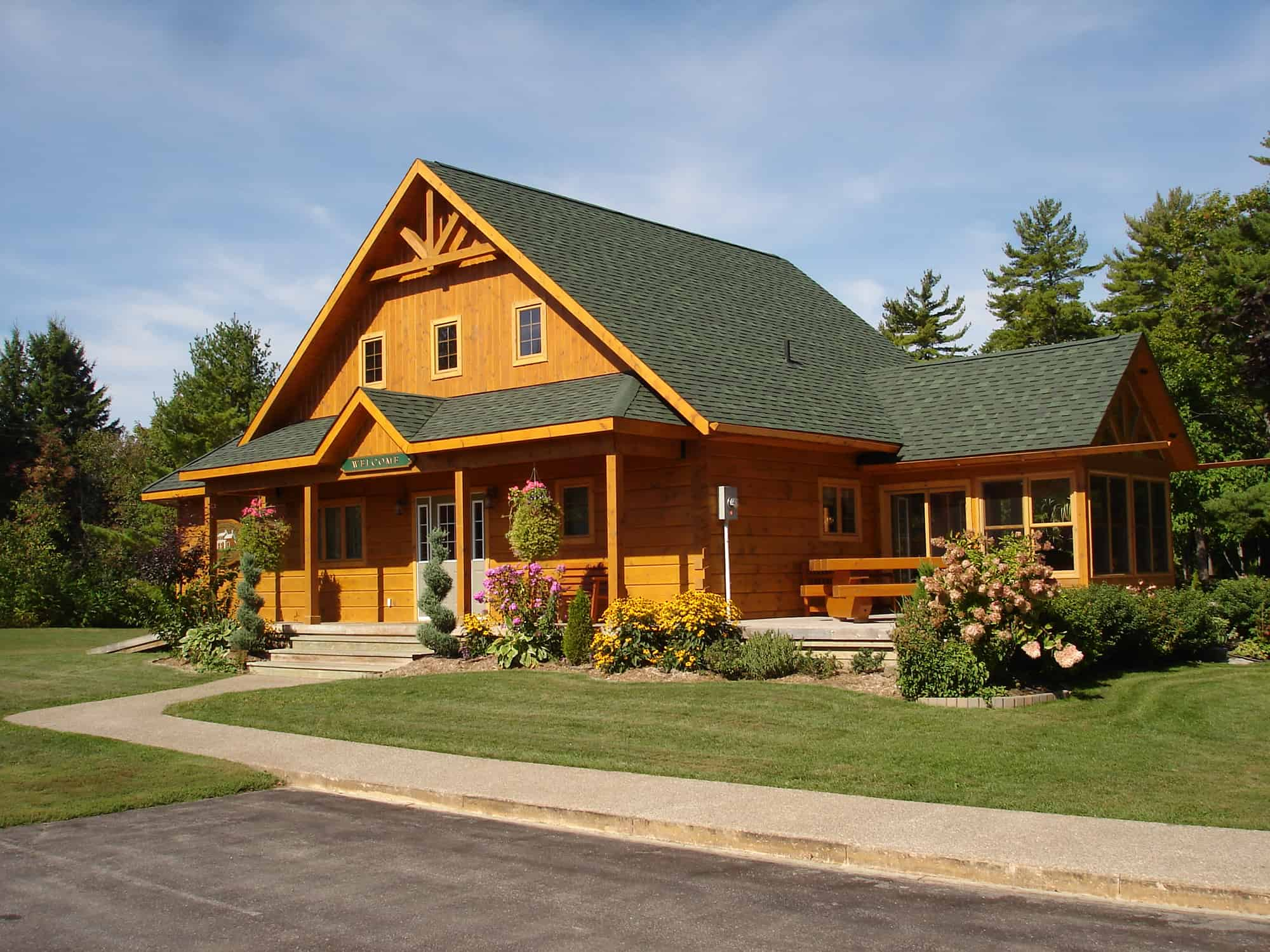Log cabin kits are you getting the total package for Timber frame cottage kits