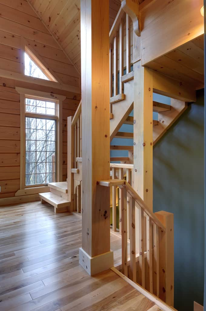 Interior of a Confederation Log Home - when you're shopping for a log cabin kit, get the total package.