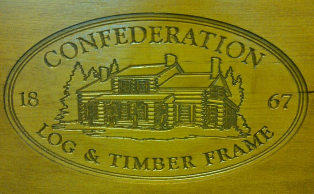 Confederation Log & Timber Frame Logo