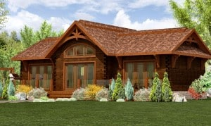 Small cabin plans: The Hardwood - 1,062 sq ft by 1867 Confederation Log & Timber Frame