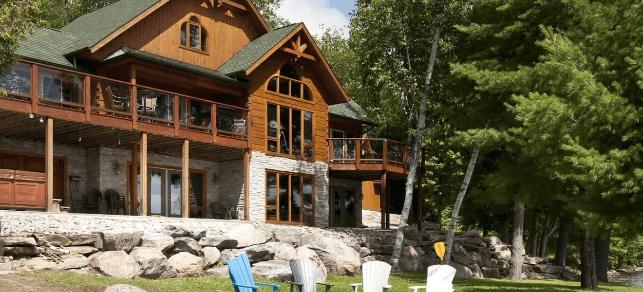 Log cabin the most suitable home design for Log home plans ontario