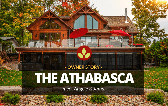 How a Hampton-style vision of a cottage morphed into a head-turning log home